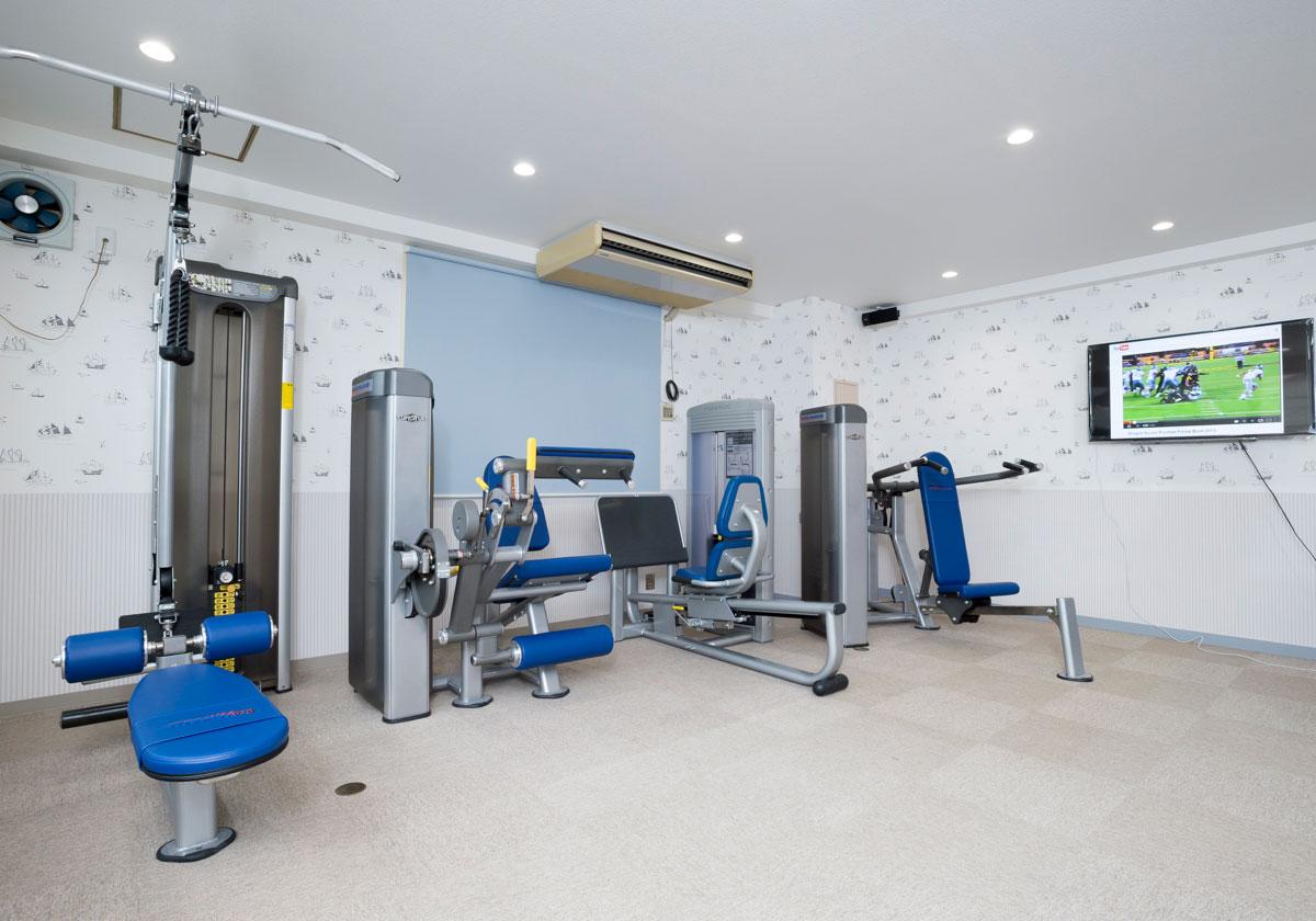 1. 社内での運動施設開設